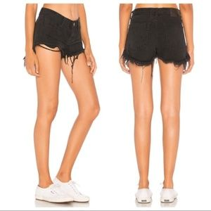 NWT One Teaspoon Black Oak Bonitas Cut Off Shorts